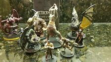 D&D Dungeons and Dragons Attack Wing Miniatures   Lot Black dragon war devil old