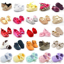 Infant Toddler Baby Girls Soft Soled Newborn Princess Crib Shoes Prewalker 0-18M
