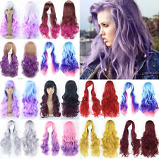 Fashion Halloween Long Hair Cosplay Wig Curly Wave Anime Hair Costume Full Wigs