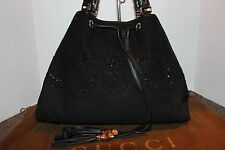 Gucci Peggy Black Satchel with Beaded Detail Great Condition