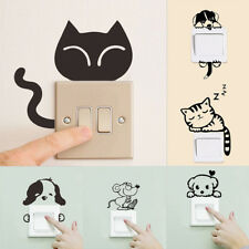 Wall Sticker Dog DIY Cat Removable Art Vinyl Quote Decal Mural Home Room Switch