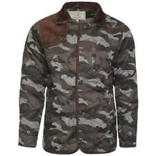 Mens Soulstar Camo Jacket Camouflage Diamond Quilted Winter Coat Bomber