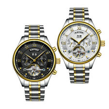 KINYUED Hollow Skeleton Watch Automatic Waterproof Mens Mechanical Watches