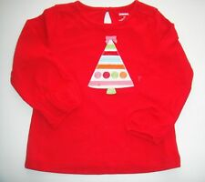 NWT Gymboree Girls Cozy Cutie Red Tree Top Size 3-6 12-18 M & 2T
