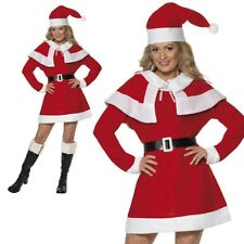 Miss Santa Fleece Budget Ladies santa Fancy Dress Costume S-XL