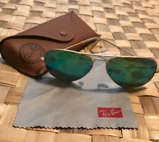 UNISEX RAYBAN AVIATOR LARGE SUNGLASSES BLUE OR GREEN LENSES YOU PICK RETAIL $203