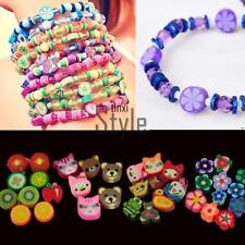 100 PCS Clay Beads DIY Slices Mixed Color Fimo Polymer Clay TXST
