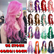 Free Shipping Long Hair Wig 30+ Colors Wave Hair Full Wig Halloween Costume K876