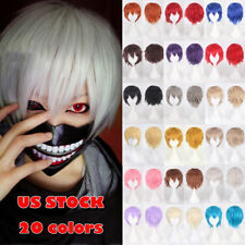 New Style Unisex Hair Wig Cosplay Wigs Short Halloween Party Full Hair Anime Ddg