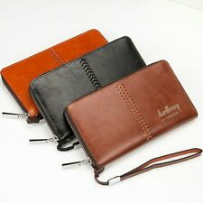 Mens PU Leather Long Wallet Clutch Purse Bag ID Credit Card Holder Billfold 134