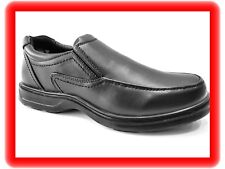 NEW mens DR KELLER black  SLIP ON  light weight comfort flexi soles WORK shoes