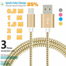 1.6/3/5/6/10FT Type C USB Braided Adapter Charger Cable For Samsung Galaxy S8