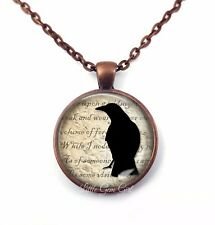 Edgar Allan Poe The Raven Silhouette Gothic Horror Necklace or Key Chain Charm
