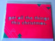 AMERICAN GREETINGS Christmas CARDS~GET ALL THE .THINGS THIS XMAS ~LOT OF 4.CARDS