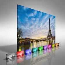 Sunrise At The Eiffel Tower Paris Canvas Print Large Picture Wall Print