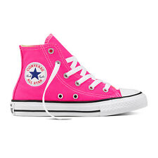 CONVERSE UNISEX SHOES TRAINERS Chuck Taylor All Star High Pink Pow (Neon Pink)