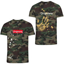 Jack & Jones Originals T-Shirt Mens Camo Camouflage Print Casual Tee Jorwilliam