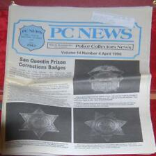 April 1996 PCN Police Collectors News 72 Page Prison Badges    + Free Shipping
