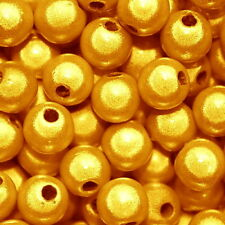 MIRACLE BEAD BRIGHT GOLD COLOR IRIDESCENT 4MM 8MM ROUND JEWELRY CRAFT BEADS