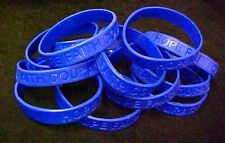 Dark Blue Awareness Bracelets 50 Piece Lot Silicone Wristband Cancer Cause New