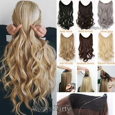 UK Long Straight Curly Wire Headband Clip In Hair Extensions As Human Made 100g