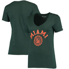 Miami Hurricanes Champion Womens Champion College Seal V-Neck  T-Shirt - Green