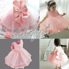 Girl Baby Infant Princess Flower Bridesmaid Party Wedding Christening Dress