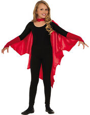 Batwing Vampire Bat Child Halloween Costume Cape With Attached Gauntlets