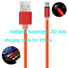 Intelligent LED Light Magnetic Lead IOS Fast Charger Data Sync Cable For IPhone