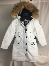 NEW CANADA GOOSE KENSINGTON PARKA WHITE WOMENS 2506L DOWN COYOTE AUTHENTIC