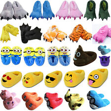 Adult Pokemon Slippers Cosplay Winter Warm Plush Stuffed Indoor Shoes Funny Gift