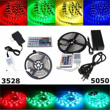 5M 300 LEDs SMD 5050 3528 RGB Flexible Strip Light Tape Roll+Remote+Power Supply