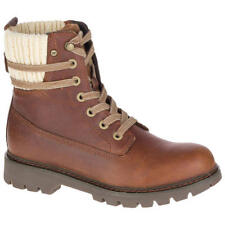 Caterpillar Brazy Womens Brown Leather Tall Ankle Boots Shoes UK 4-8