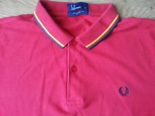 FRED PERRY - RED TWIN PIPED POLO SHIRT MOD SKINHEAD SHIRT SIZE XL
