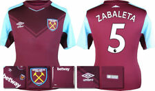 17 / 18 - ADIDAS ; WEST HAM HOME SHIRT SS / ZABALETA 5 = KIDS