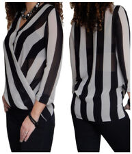 Ladies Blouse Womens Shirt Long Sleeve Loose Casual Top Size 8 10 12 14 16 18 20