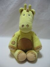 "Giraffe Plush Stuffed Animal Toy 19"" Yellow Brown Stitches PBK Pottery Barn Kids"