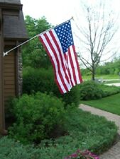 MADE IN USA American Flag Pole Set 3' x 5' Poly Cotton Eagle