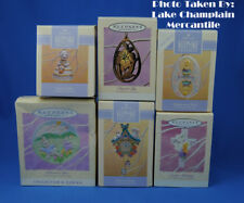 Hallmark Ornaments Lot of 6 SPRING easter LILY time for easter clock LAMB in BOX