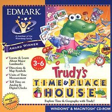 TRUDY's & TIME and PLACE HOUSE time clock preschool kindergarten Win7 PC new CD