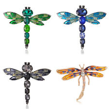 Fashion Rhinestone Crystal Dragonfly Insect Brooch Pin Jewelry Party Gift New