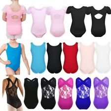 Kids Gymnastics Leotard Ballet Dance Skatting Bodysuit Costume Girls Dancewear