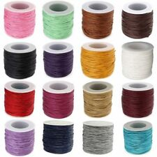100yds 1mm Waxed Cords Beading DIY Jewellery Craft Making Wax Thread String Wire