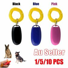 Dog Pet Click Clicker Training Obedience Agility Trainer Aid Wrist Strap AUU&@