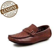 Men's Genuine Leather Luxury Shoes Breathable Loafers Handmade Moccasins Slip On