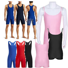 Sexy Mens Wrestling Singlet Underwear T-shirt Top Muscle Undershirt Leotard Hot