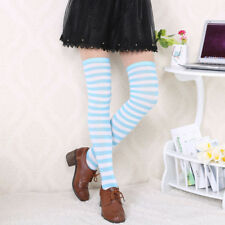 Over The Knee Socks Stretchy Socks Stripe Thigh High Fancy Dress Women