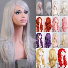 Wig Real Natural & Fashion Curly Wavy Layer Full Long Cosplay Wig Purple White s