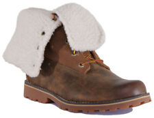 "Timberland A1BXZ Youth Nubuck Leather 6"" Brown Shearling Boots"
