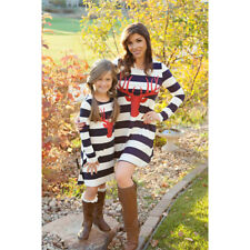 Mother Daughter Dresses Summer Casual Family Clothes Women Kids Girls Dresses